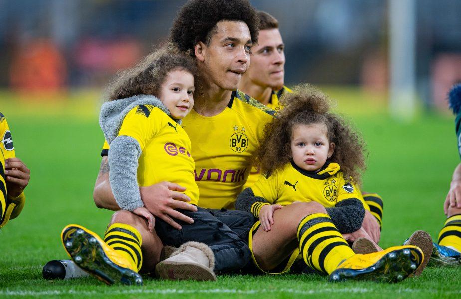 Axel Witsel, împreună cu copiii săi