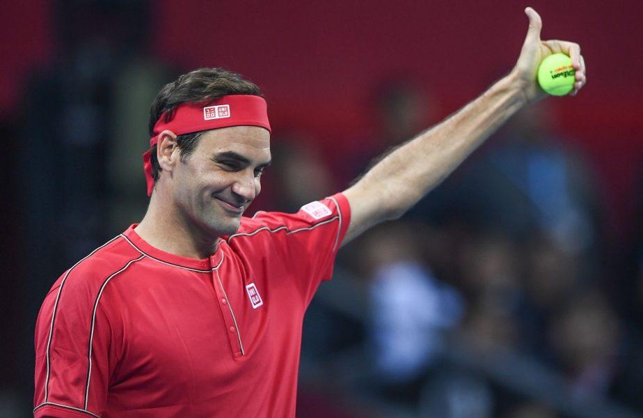 Roger Federer, în timpul unui meci