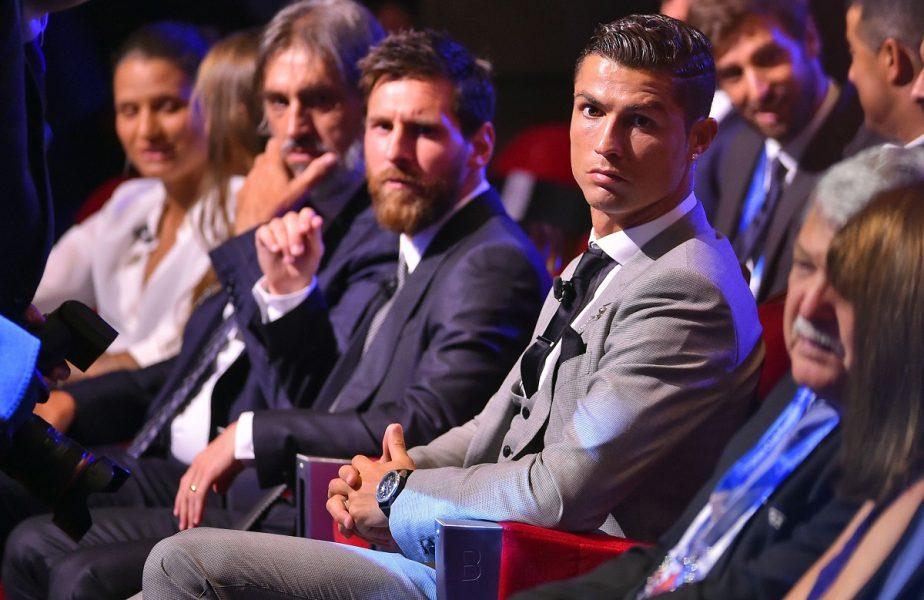Messi şi Ronaldo, pe scaune