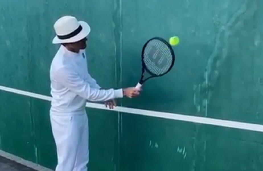 VIDEO | Roger Federer lansează o nouă provocare! Se antrenează cu stil