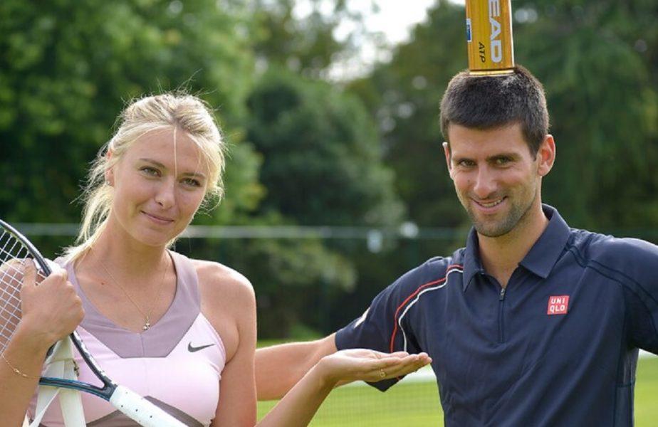 Novak Djokvic a încercat s-o cucerească pe Maria Sharapova. Cum a convins-o să iasă la cină cu el