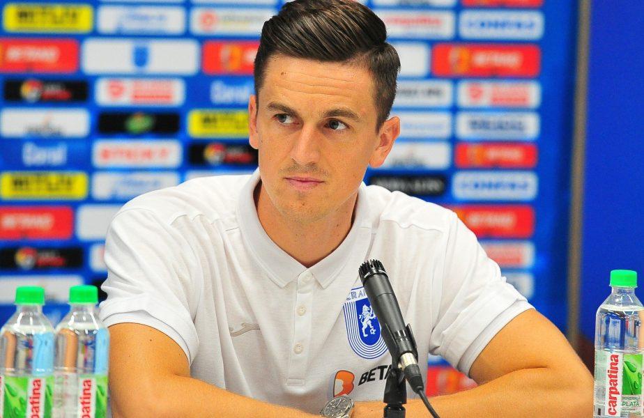 """Florin Gardoș, prima declarație după ce a semnat prelungirea cu Universitatea Craiova. """"Sper să dau un randament bun"""""""