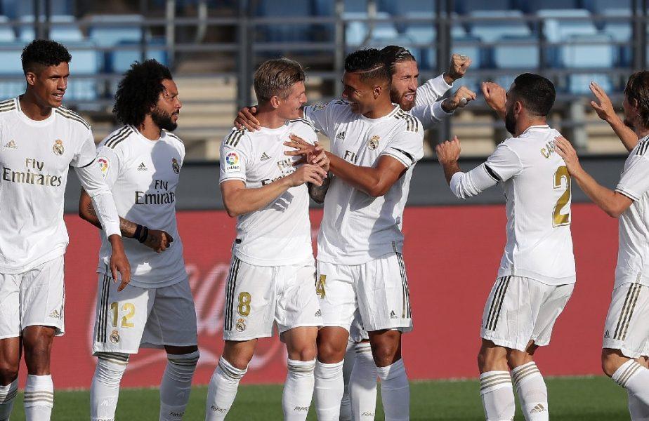 Real Madrid-Eibar 3-1. Madrilenii, victorie facilă în primul meci de după pandemie. Kroos, Ramos și Marcelo au înscris pentru gazde