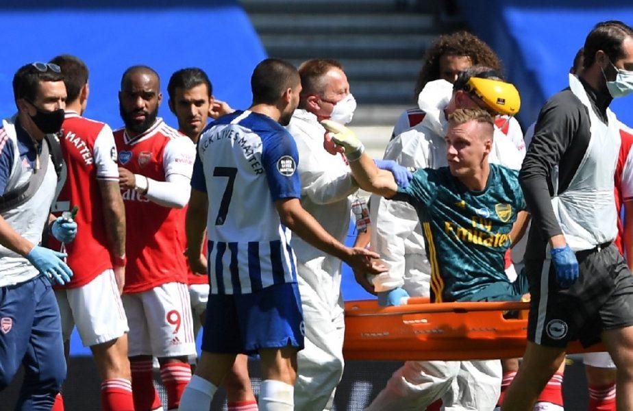 VIDEO | Imagini greu de urmărit! Accidentare horror pentru portarul lui Arsenal