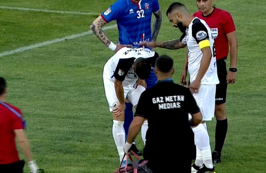 Ce ghinion pentru atacantul pentru care se bat CFR şi FCSB. Sergiu Buş s-a accidentat în meciul cu Botoşani