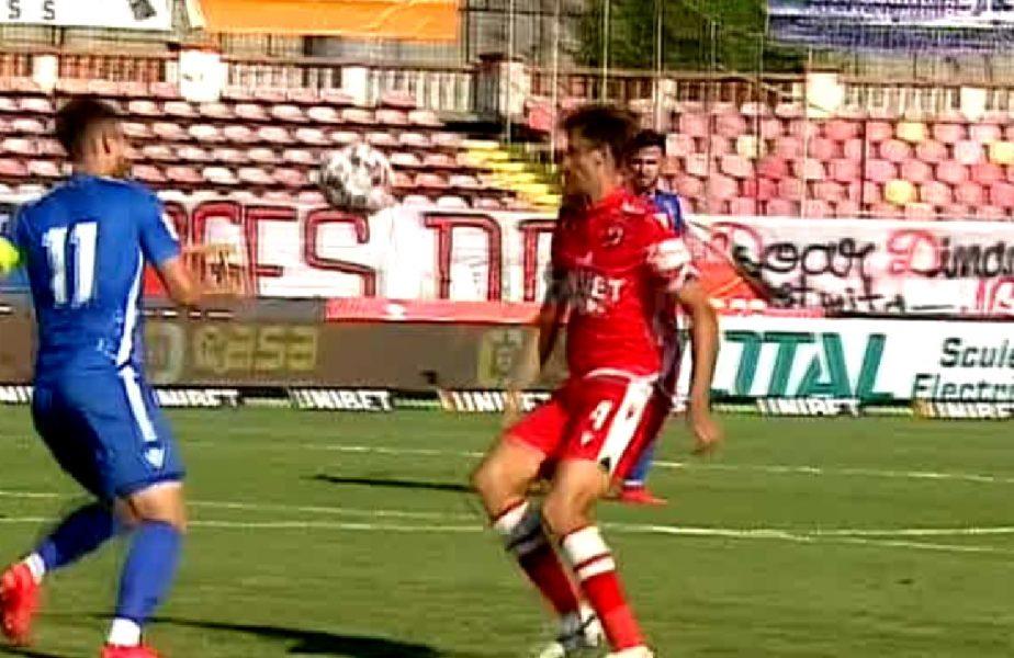 Filip, meci de coșmar! Jucătorul lui Dinamo și-a lăsat echipa în zece după două erori grave