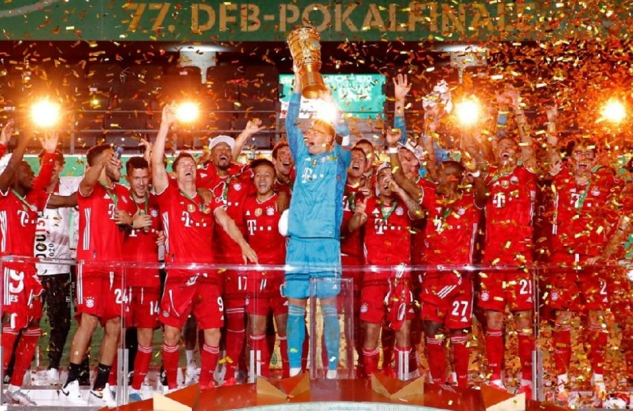 """Bayern Munchen așteaptă tripla istorică! Bavarezii au câștigat pentru a 20-a oară Cupa Germaniei. Lewandowski s-a remarcat cu o """"dublă"""""""