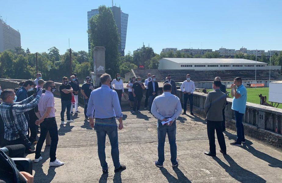"""Super-stadion pentru Dinamo. Când va fi gata arena în formă de """"picătură de apă"""" cu o capacitate de 30.000 de locuri"""