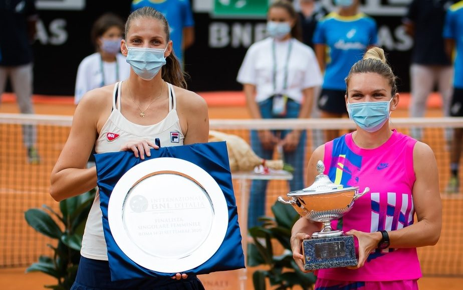 Karolina Pliskova şi Simona Halep, la Roma