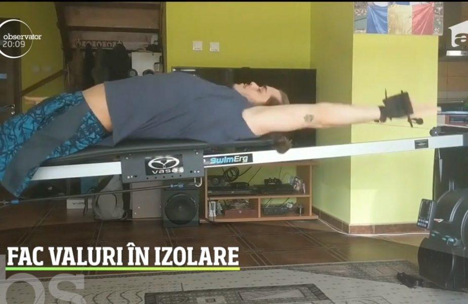 Inotatorii sunt printre cei mai simpatici sportivi romani care se antreneaza in izoare