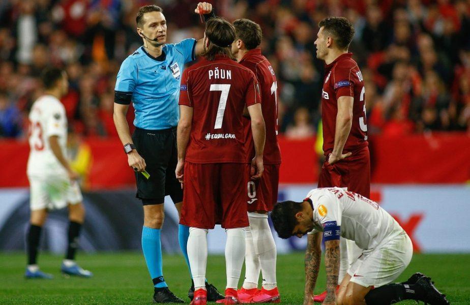 Golul nevalidat CFR-ului, cu Sevilla, schimbă regulamentele. Hațegan, dat exemplu
