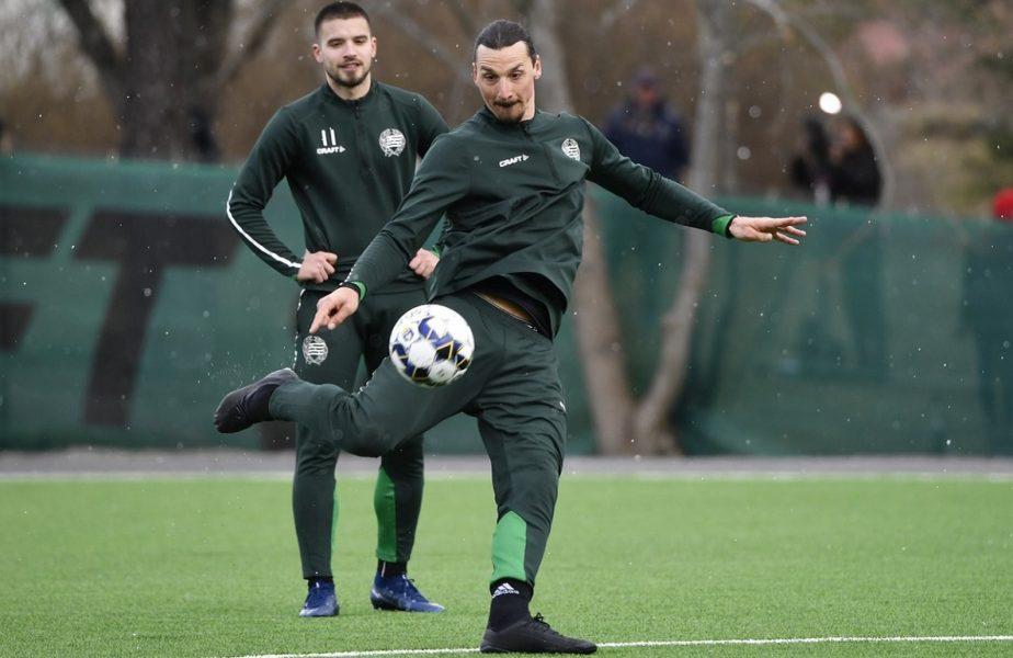 VIDEO   Zlatan Ibrahimovic, primele goluri la Hammarby. Starul suedez a dat recital