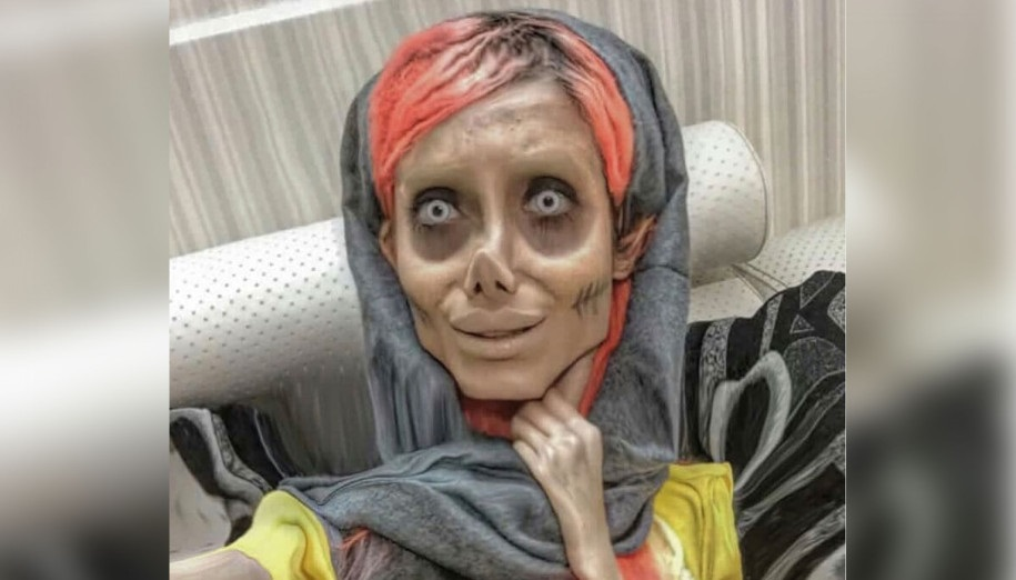 """Femeia care s-a transformat în """"Zombie Angelina"""" a fost infectată cu Coronavirus! Ce se întâmlpă cu ea"""