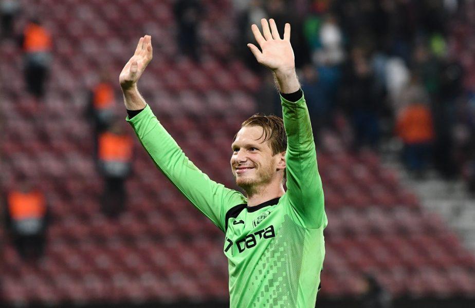 Arlauskis pleacă liber de contract de la CFR Cluj. Unde ajunge portarul