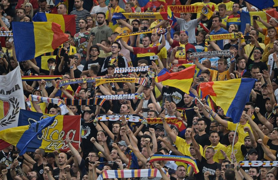Suporterii României, la un meci