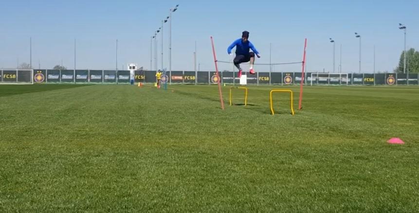 VIDEO | Cum se antrenează jucătorii de la FCSB, pe timp de pandemie. Clubul anunță că se respectă distanța socială. 6 fotbaliști au lipsit