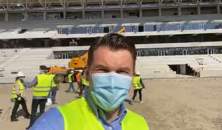 """Ionuț Stroe a fost în inspecție în Ghencea și a rămas uimit: """"O bijuterie de stadion!"""" Când se pune gazonul"""
