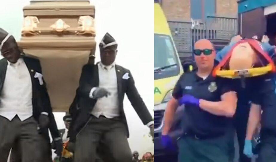 Glumă macabră a paramedicilor britanici: au recreat clipul groparilor dansatori. Ce reacții au stârnit