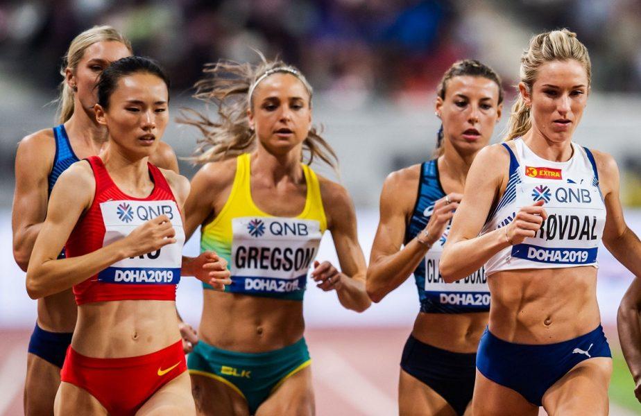 Atlete, în timpul unei curse