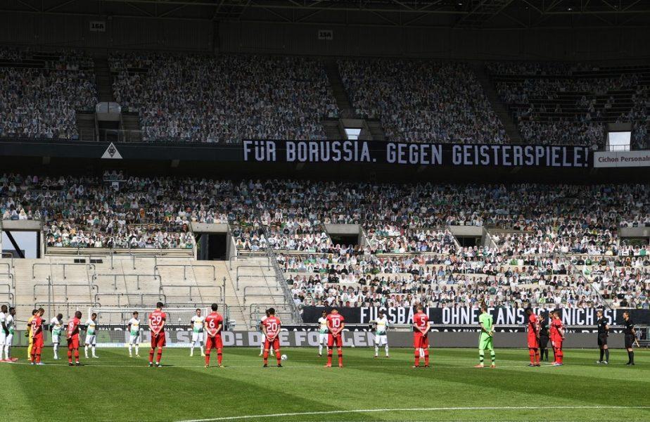 "GALERIE FOTO | Cadre superbe in Bundesliga. Gladbach are 13.000 de ""fani"" la derby-ul cu Bayer Leverkusen"