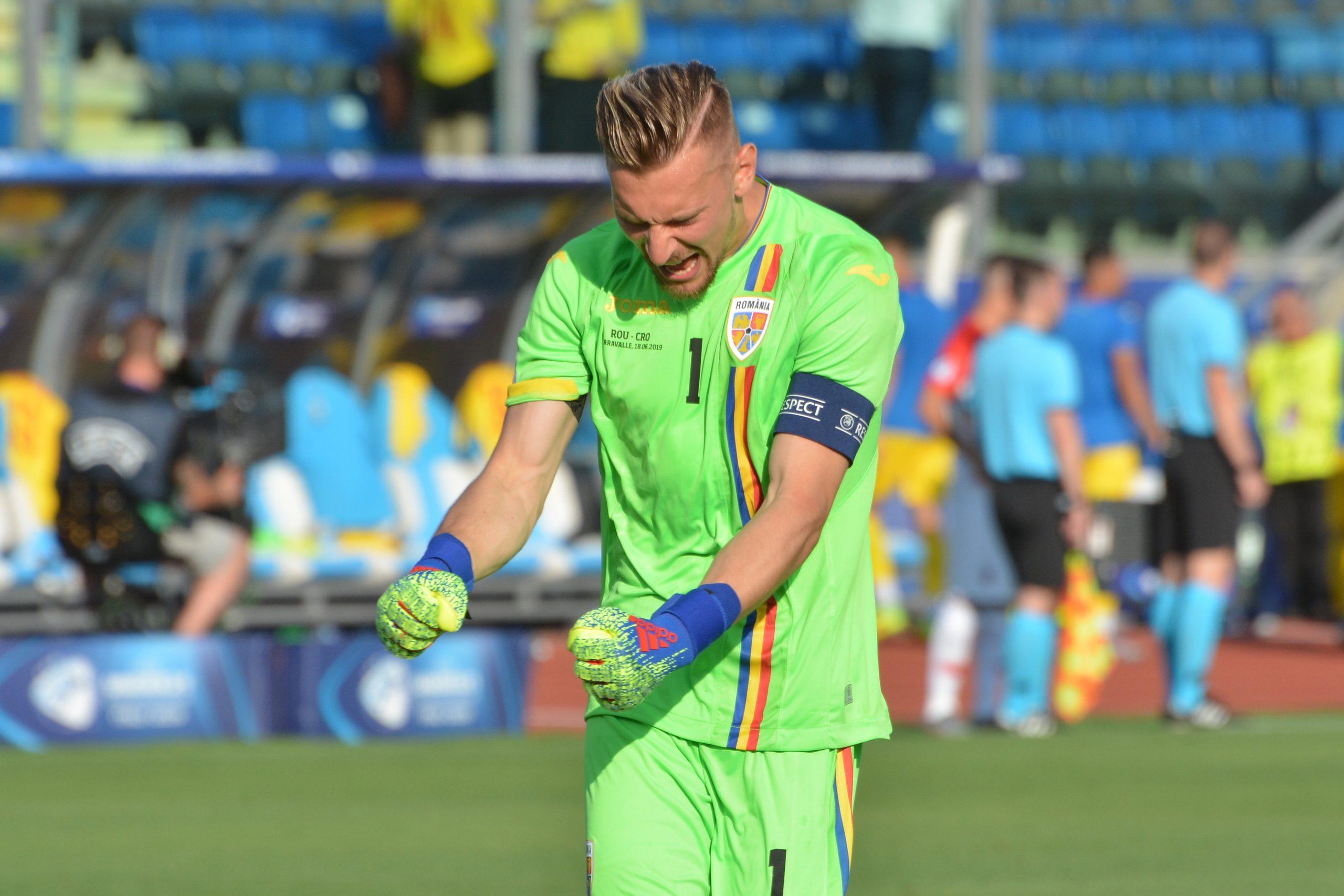 Ionuţ Radu, în timpul unui meci al naţionalei de tineret