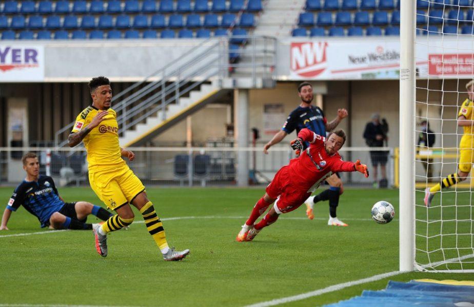 Borussia Dortmund a dat recital în deplasarea cu Paderborn. A înscris 6 goluri într-o repriză! Sancho a fost în zi de graţie