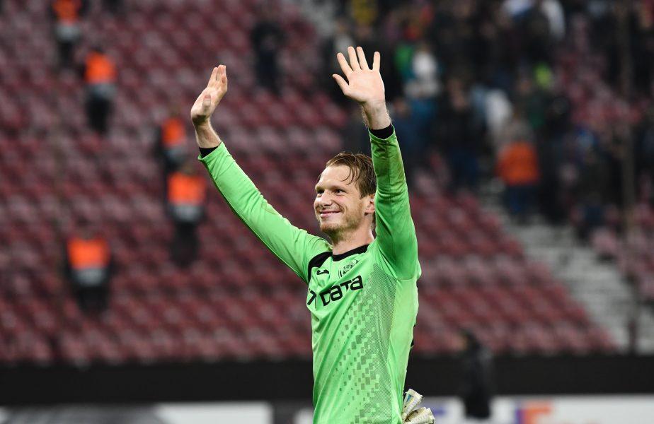 CFR Cluj, lovitură înainte de începerea Ligii 1! Arlauskis s-ar fi înțeles cu o altă echipă. Unde va ajunge portarul campioanei