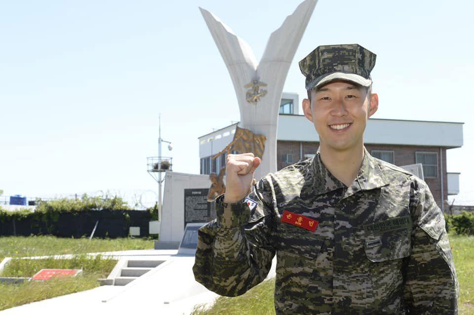 Heung-Min Son, în timpul stagiului militar