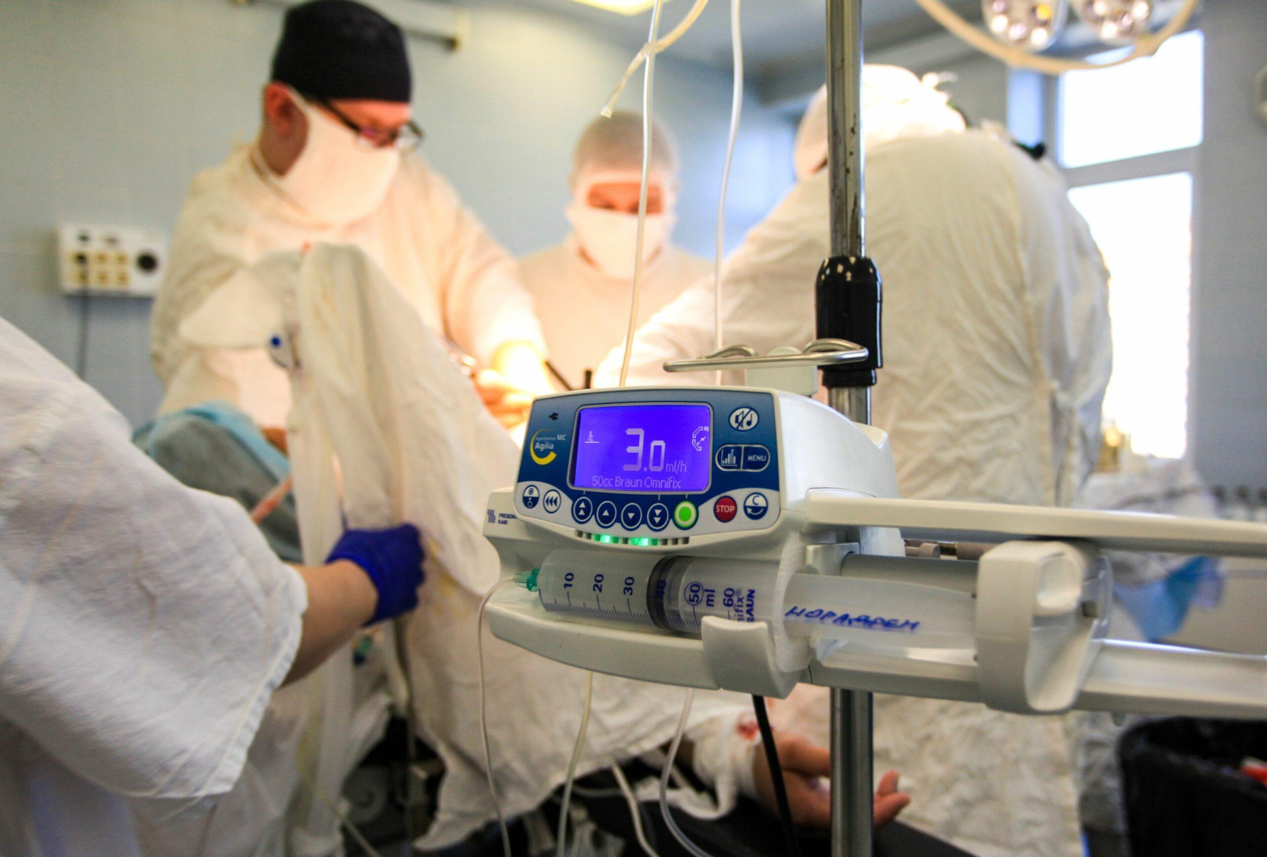 Imagine din timpul unei operaţii