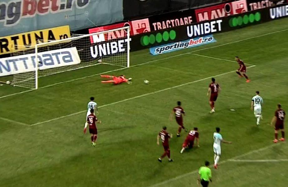Arlauskis, din nou salvator pentru CFR Cluj! Ocazii uriașe ratate de Man și Coman în derby-ul CFR Cluj-FCSB