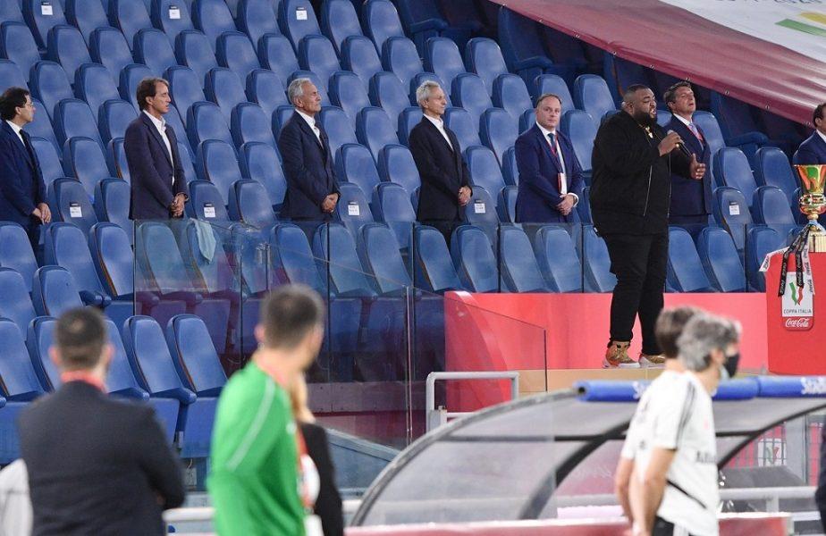 VIDEO | Moment penibil la finala Cupei Italiei. A uitat imnul şi s-a făcut de râs. Noroc că stadionul era aproape gol!