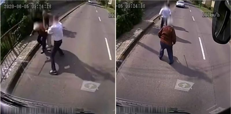 VIDEO! Ce face un șofer de autobuz, fost militar în Irak, când trece pe lângă o bătrânică ce era jefuită