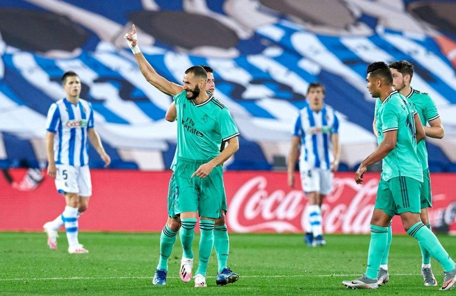 Real Sociedad-Real Madrid 1-2. Galacticii au detronat-o pe Barcelona şi au făcut un pas uriaş spre titlu