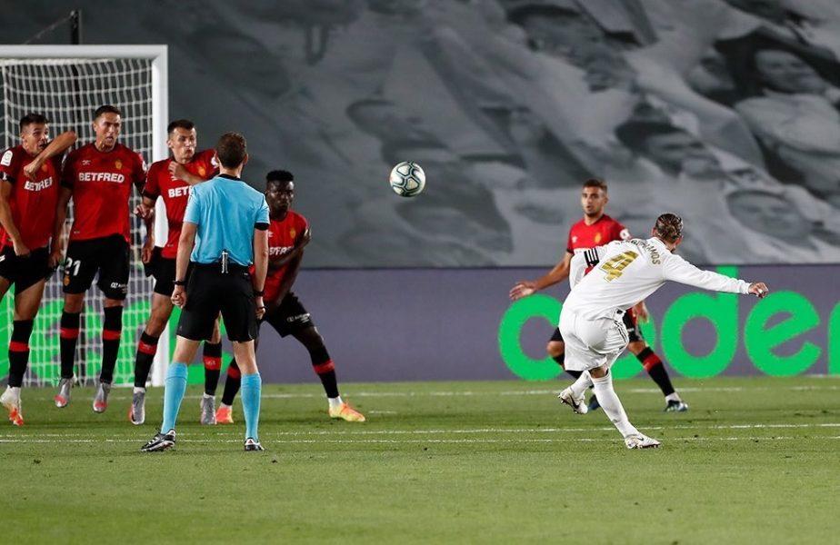 Real Madrid, încă un pas spre titlu, după 2-0 cu Mallorca. Cifre uluitoare pentru Sergio Ramos. I-a arătat lui Cristiano Ronaldo cum se bate o lovitură liberă
