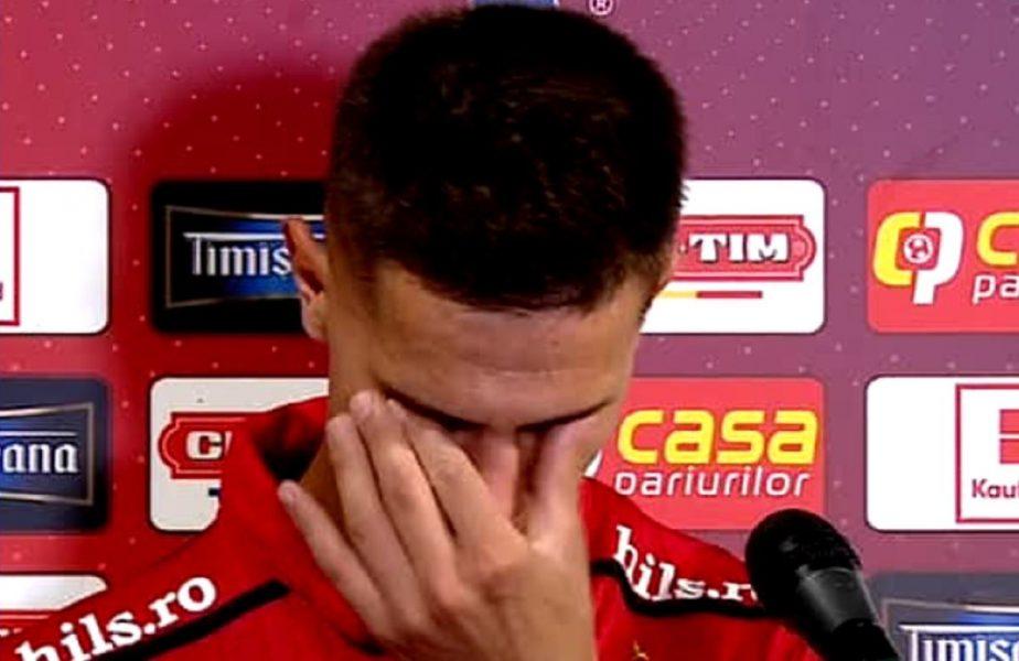 """Ricardo Grigore a început să plângă după înfrângerea cu FCSB. """"Mă simt ca ultimul om. Îmi vine să mă las de fotbal!"""""""