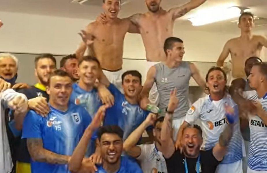 VIDEO | Craiova a făcut spectacol în Gruia! Bucurie imensă în vestiar după victoria cu CFR Cluj