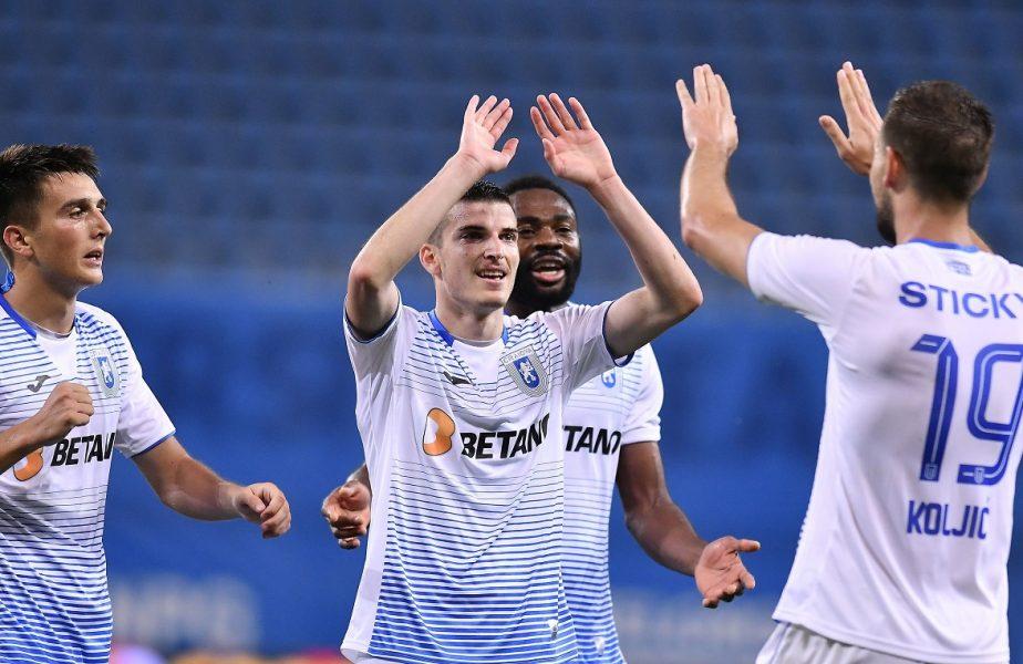 """Gaz Metan-Universitatea Craiova 1-2. """"Arde"""" Bănia! Oltenii sunt pe primul loc, cu 4 etape înainte de finalul campionatului"""
