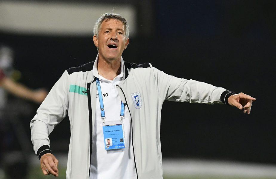 Craiova e pe primul loc în Liga 1, dar Bergodi şi-a certat jucătorii! Italianul se gândeşte deja la duelul cu FCSB
