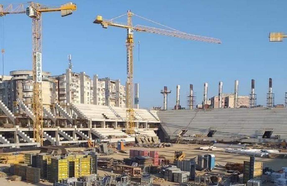 Noi imagini din Giuleşti. În ce stadiu au ajuns lucrările la Stadionul Rapid şi când se vor finaliza!