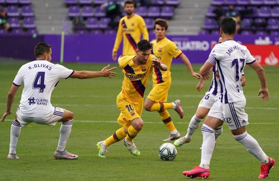 Valladolid-Barcelona 0-1. Catalanii revin la un punct în spatele Realului. Performanţă uluitoare reuşită de Messi!