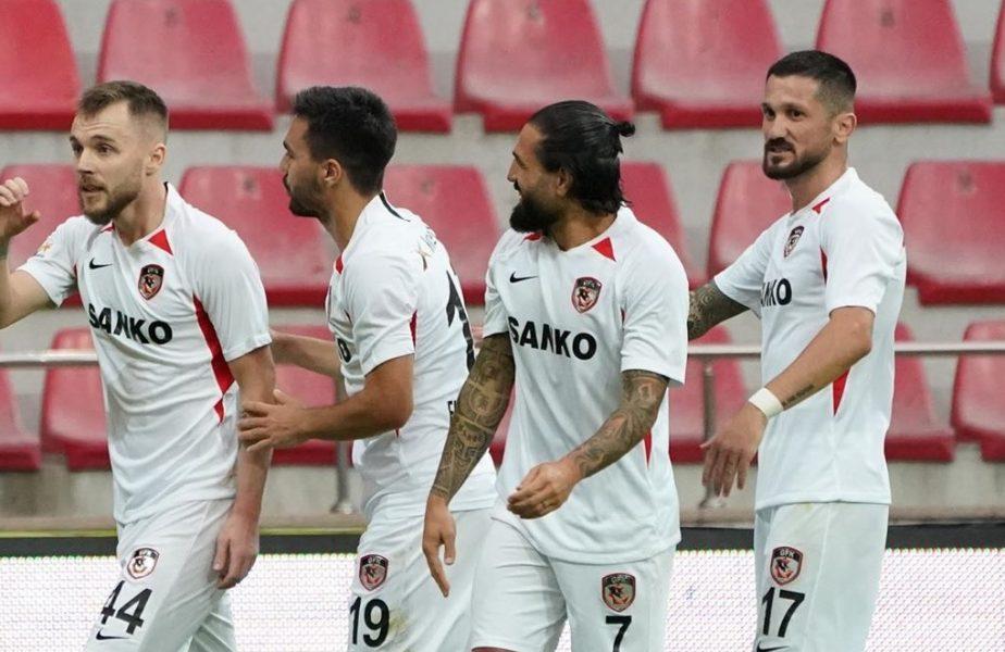 Încă un meci nebun pentru Şumudică! Alexandru Maxim a marcat, dar Gaziantep a fost egalată în prelungiri, când juca cu doi oameni în plus