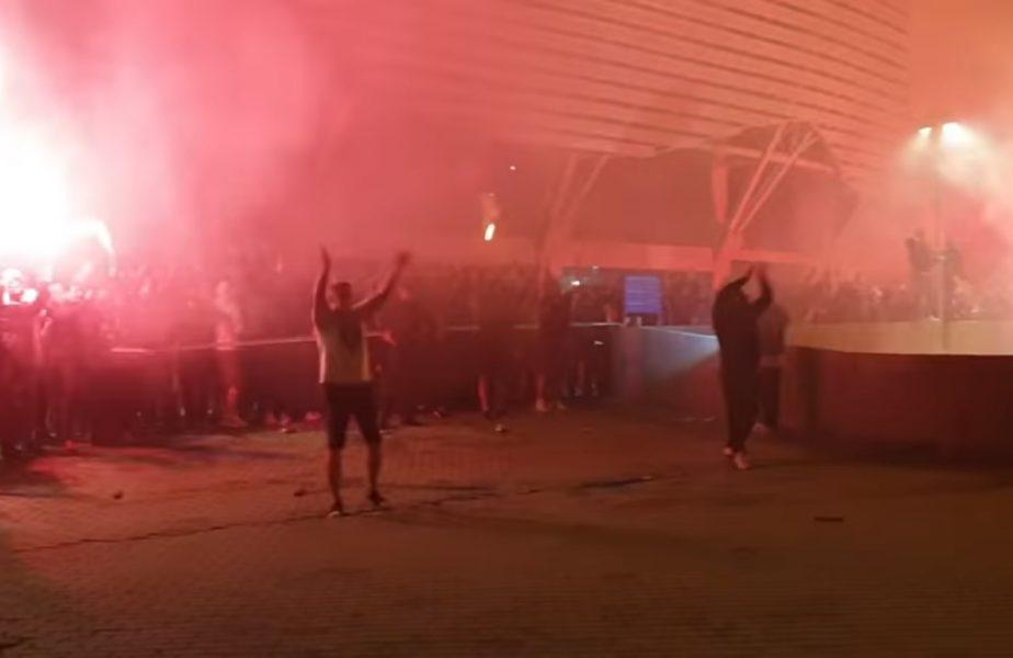 VIDEO | Jucătorii lui Bergodi au declanșat fiesta după ce s-au detașat la conducerea Ligii 1. A fost nebunie totală în Bănie!
