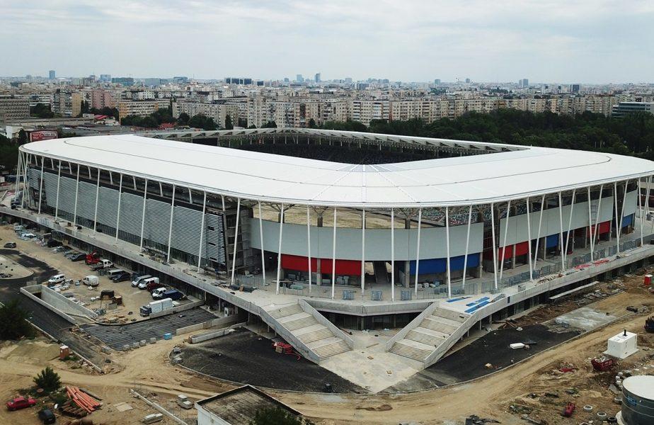 FOTO | Sectoarele stadionului Steaua vor fi denumite după fostele glorii! Primele nume inscripţionate. Noi imagini de la arena din Ghencea