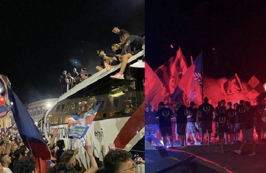 VIDEO   Promovarea lui Crotone a fost sărbătorită pe străzi. Fanii au uitat de distanţarea socială şi au petrecut alături de jucători