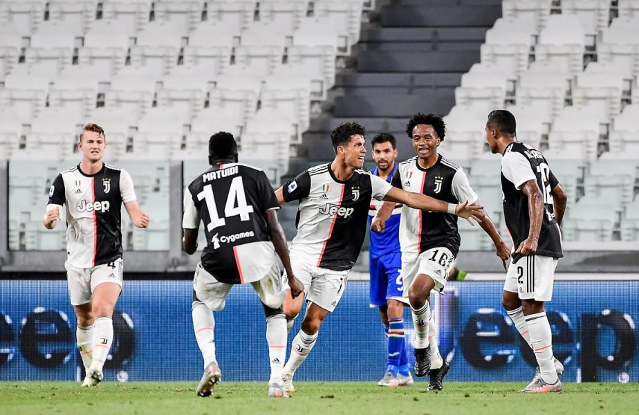 Juventus-Sampdoria 2-0. S-a scris istorie! Cristiano Ronaldo i-a ajutat pe bianconeri să câștige titlul în Serie A