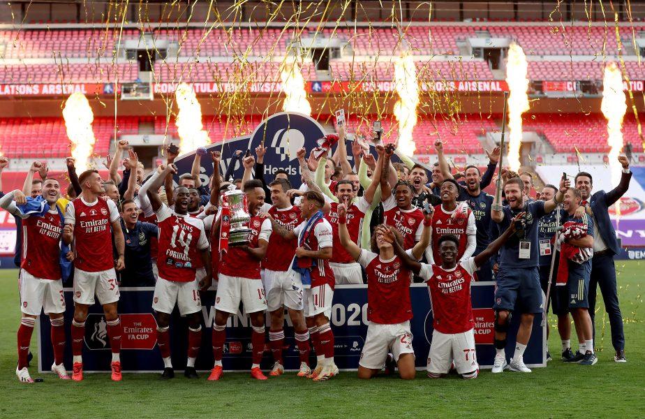 """Arsenal a câştigat Cupa Angliei. Aubameyang, eroul """"tunarilor"""". Record împotriva lui Chelsea"""