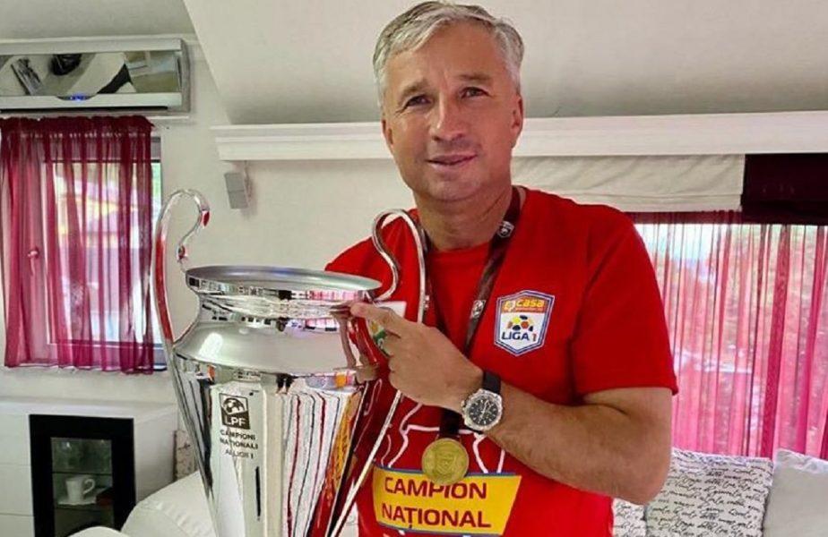 Dan Petrescu, campion cu acte în regulă. Antrenorul CFR-ului a primit, în izolare, trofeul şi medalia!