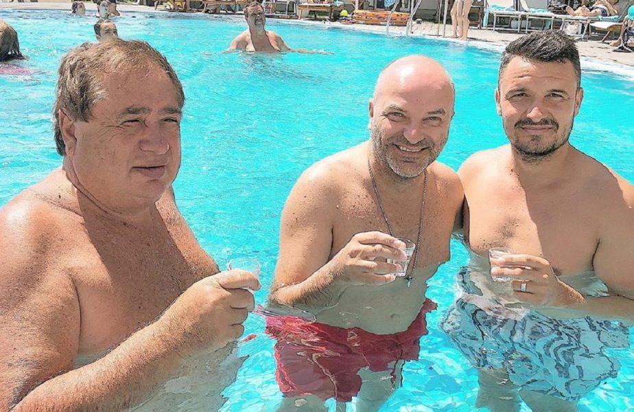 """Cadre surprinzătoare, la piscină, cu Capatos, Budescu şi Ioan Niculae. """"Pregătim viitorul transfer"""""""