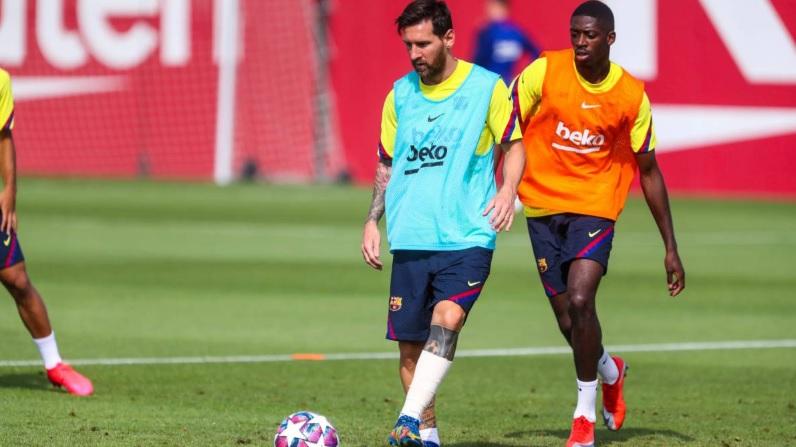 Motive de îngrijorare pentru catalani. Messi a venit bandajat la ultimul antrenament Barcelonei! Ce alt jucător se întoarce la Lisabona