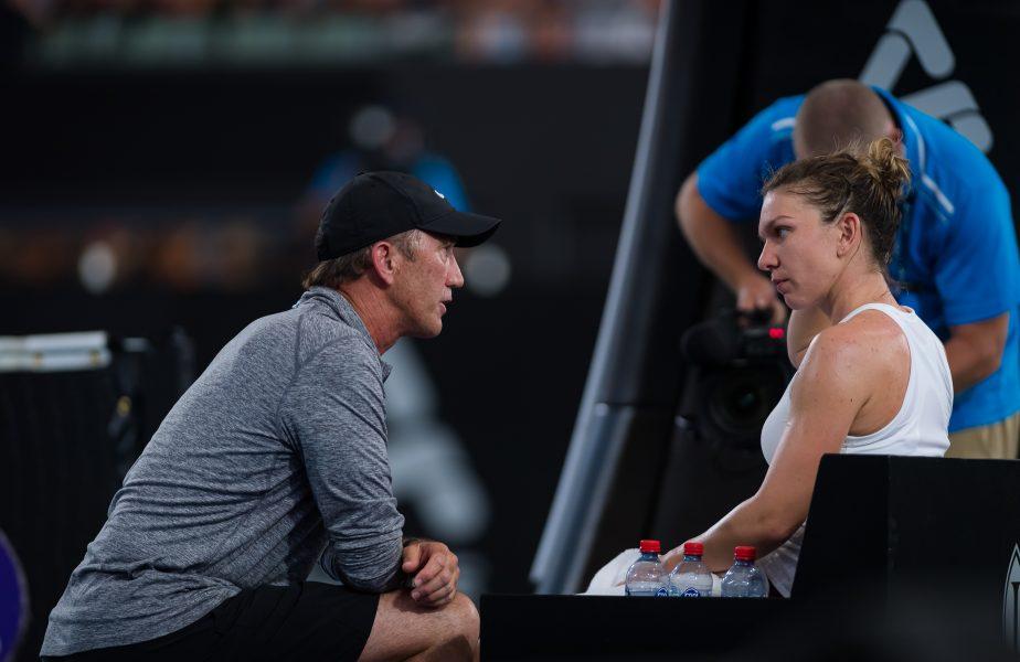 Mesajul lui Darren Cahill pentru Simona Halep, după victoria dramatică cu Polona Hercog